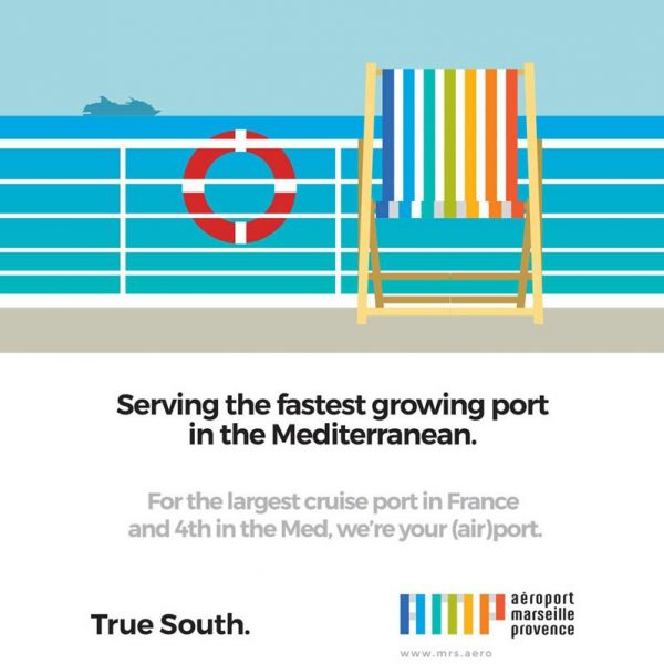 Design for Aéroport Marseille Provence cruise port advertising