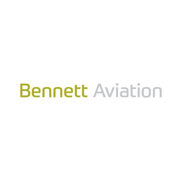 Brand identity design for Bennett Aviation