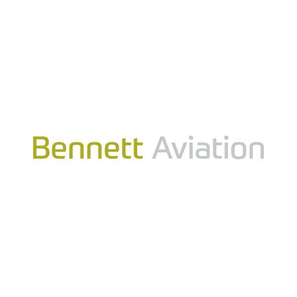 Brand identity design for Bennett Aviation