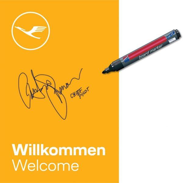 New design for 'Welcome Panel' on Lufthansa's fleet