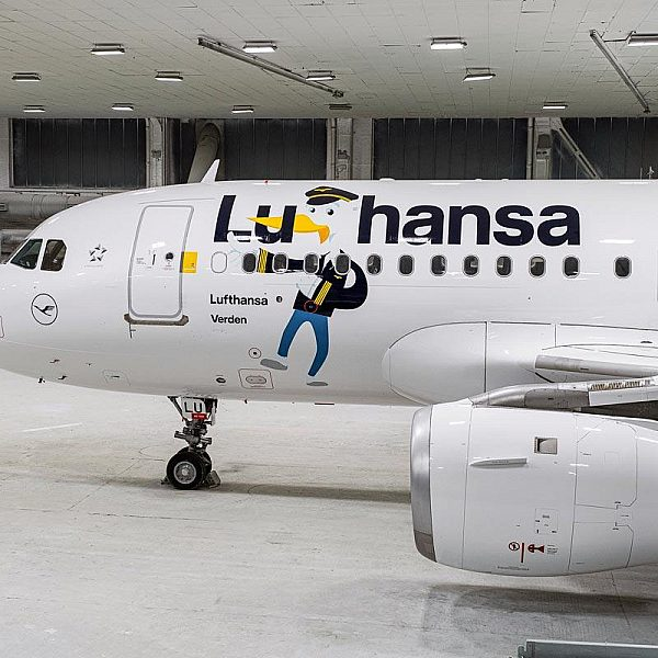 Special livery design for Lufthansa's 'Luflieger'